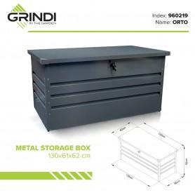 Skrzynia ogrodowa metalowa 400l - 130x61x62 - Orto