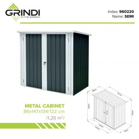 Szafa ogrodowa metalowa 86x147x134 - Semi