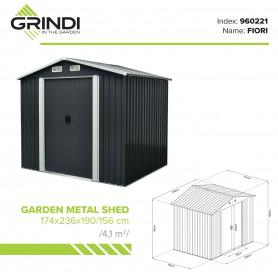 Domek ogrodowy metalowy - Fiori