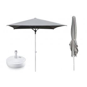 Zestaw parasol ogrodowy + podstawa - 250x250 szary Sole