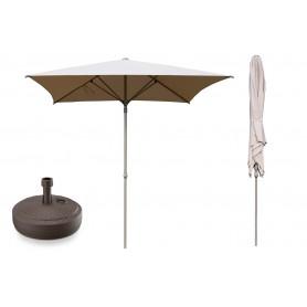 Zestaw parasol grodowy + podstawa - 250x250 beżowy - Caldo