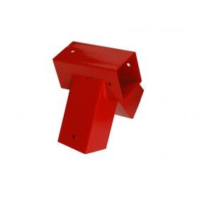 Łącznik belki kwadratowej - czerwony - 100° - GHVK