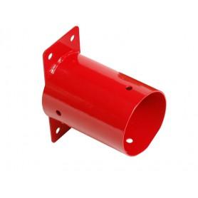Łącznik ścienny belki okrągłej fi 100 czerwony - GHSO