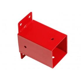 Łącznik ścienny belki kwadratowej 90x90 czerwony - GHSK