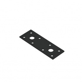 Ozdobny łącznik płaski - czarny - LP 1