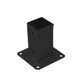 Ozdobna podstawa słupa - prostokątna czarna - PSP