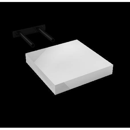 Półka ścienna samowisząca - Biała wysoki połysk - FSG 23x23