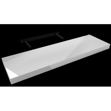 Półka ścienna samowisząca - Biała wysoki połysk - FSG 80x23
