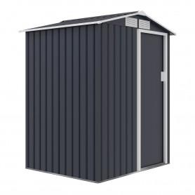 Domek ogrodowy metalowy 150x130x186 - Tilia, szary