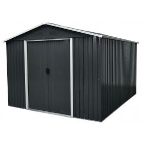 Domek ogrodowy metalowy, szary - Fiori IV - 303x236x190