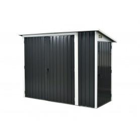 Domek ogrodowy metalowy, szary - Cornus - 112x243x176