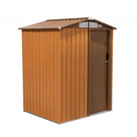 Domek ogrodowy metalowy 150x130x186 - Tilia, imitacja drewna
