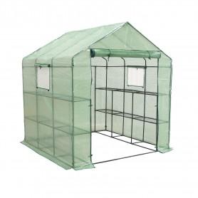 Szklarnia ogrodowa domek - 200x200x220 - Canna III - zielona