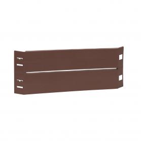 Palisada ogrodowa obrzeże, brązowy - GOP 7 heksagon